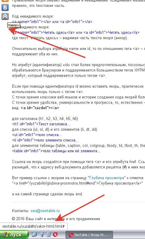Якорь html
