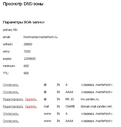 Сервер доменных имен DNS