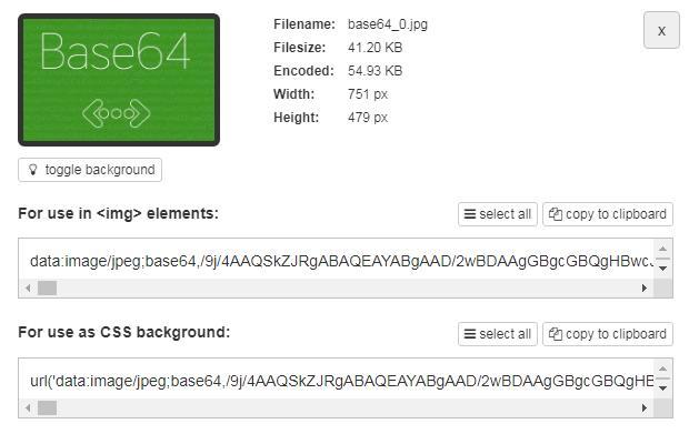 Кодировка картинок Base64