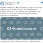 Google временно отключил запросы на Request Indexing